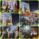 مراسم یادبود شهدای کوچه پاسداران ۶ در شهرستان جیرفت